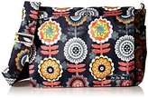 Ju-Ju-Be Better Be Messenger Diaper Bag, Dancing Dahlias by