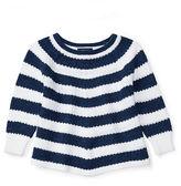 Ralph Lauren 2-6X Striped Cotton Swing Sweater