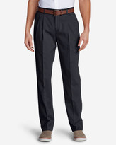 Eddie Bauer Men's Wrinkle-Free Classic Fit Pleated Casual Performance Chino Pants
