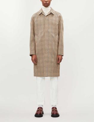 Sandro Carnaby tartan-pattern woven trench coat