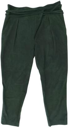 Tibi Green Suede Trousers