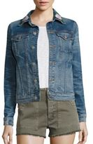 Hudson Classic Floral Embroidered Denim Jacket