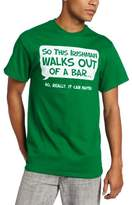 Humör T-Line Men's Irishman Walks Out Of A Bar T-Shirt