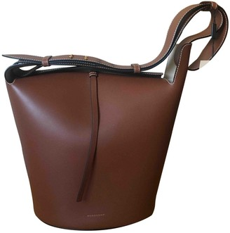 Burberry The Bucket Camel Leather Handbags
