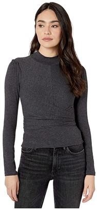 AllSaints Veronika Top (Charcoal Grey) Women's Clothing
