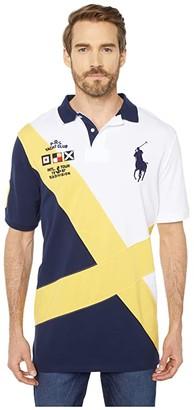 Polo Ralph Lauren Big Pony Classic Fit Polo (White Multi) Men's Clothing