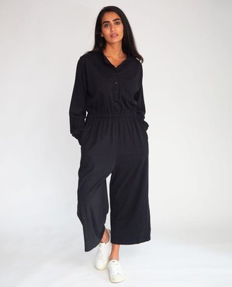 Beaumont Organic AW20 - Tinley Organic Cotton Jumpsuit In Black - Black / Extra Small