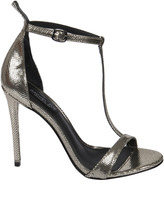 Rachel Zoe Tee Metallic Snake Sandals