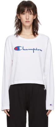 Champion Reverse Weave White Big Script Logo T-Shirt