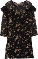 Suno Ruffled embellished silk-chiffon mini dress