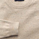 Charles Tyrwhitt Stone cotton cashmere crew neck jumper