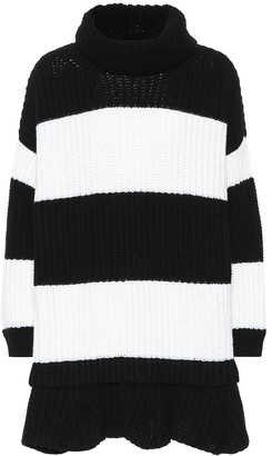 Valentino Striped virgin wool dress