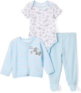 Baby Starters Blue & White Cardigan Set - Infant