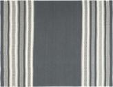 One Kings Lane Ovar Flat-Weave Rug - Gray - dark gray/white