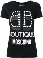 Moschino logo print T-shirt - women - Cotton - 44