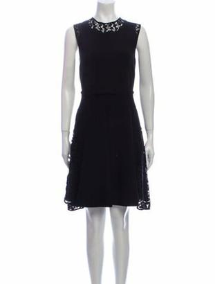 Giambattista Valli Crew Neck Mini Dress Black