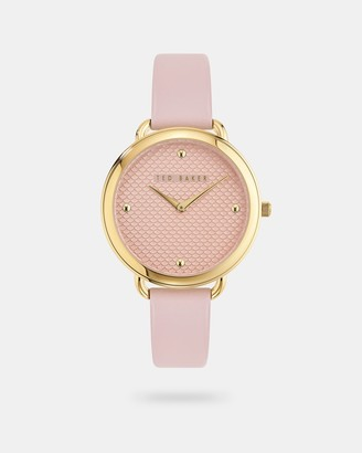 Ted Baker HETLINA Scalloped dial leather strap watch