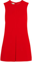 Stella McCartney Daisy Pleated Crepe Mini Dress - Tomato red