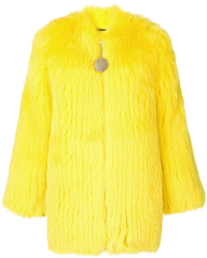 Givenchy fox fur collarless jacket