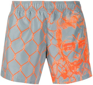 Off-White Off White Broken Fence swim shorts