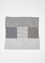 Fog Linen black linen patchwork napkin