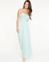 Le Château Sparkle Knit Strapless Gown
