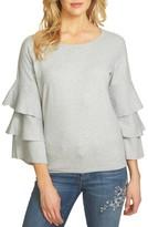 CeCe Women's Ruffle Sleeve Sweater
