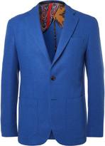 Etro Blue Slim-Fit Wool-Blend Blazer
