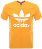 adidas Trefoil T Shirt Yellow