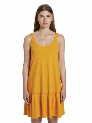 Tom Tailor Women's Jersey Ruckendetail Dress