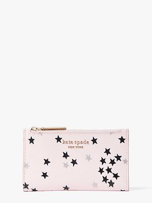 Kate Spade Spencer Confetti Stars Small Slim Bifold Wallet