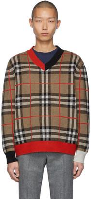 Burberry Brown Check Duggan Sweater