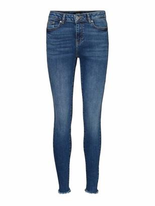Vero Moda Women's VMHANNA MR SK RAW EDG Jeans BA3139