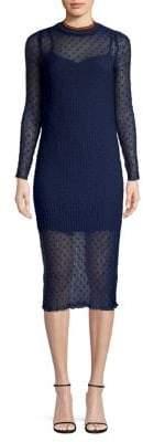 The Fifth Label Textured Mockneck Midi Dress