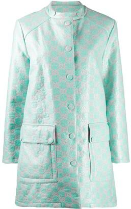 Gucci water-resistant GG tweed coat