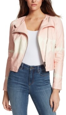 Skinnygirl Dan Tie-Dyed Faux-Leather Jacket