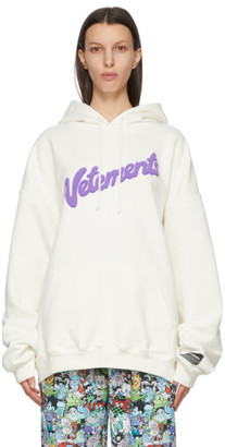 Vetements White Sweet Logo Hoodie