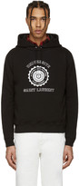 Saint Laurent Black University Logo Hoodie