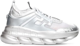 Versace Silver Chain Reaction Sneakers