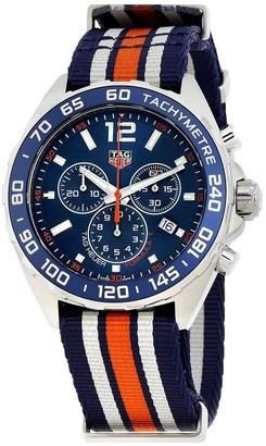 Tag Heuer Men's CAZ1014.FC8196 'Formula One' Chronograph Orange Blue and White Nylon Watch