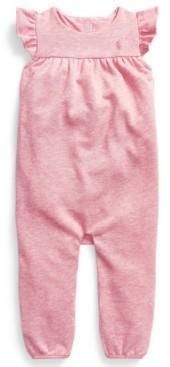 Polo Ralph Lauren Ralph Lauren Baby Girls Flutter-Sleeve Terry Overall