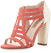 Rosegold Rose Gold Zane Strappy Pump, Red Coral