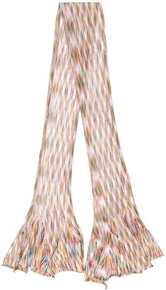 Missoni Knitted Striped Pattern Scarf