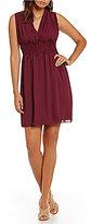 M.S.S.P. Lace Trim V-Neck Sleeveless Shift Dress