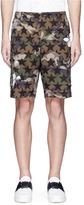 Valentino 'Camustars' butterfly print cotton cargo shorts