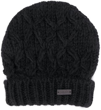 Saint Laurent Cable-Knit Beanie