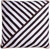 Scribble Striped Square Throw Pillow