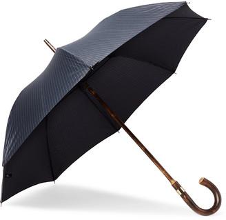 Kingsman + London Undercover Pinstriped Chestnut Wood-Handle Umbrella