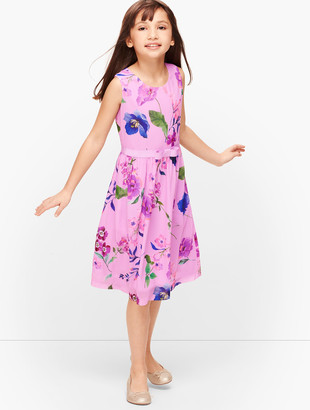 Talbots Girls Botanical Fit & Flare Dress