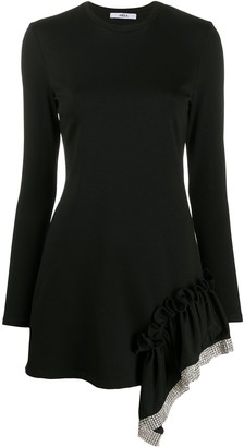 Area Embellished Ruffle Trim Dress